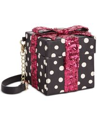 Betsey Johnson | Black Gift Box Sequin Crossbody | Lyst