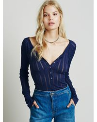 Free People | Blue Rue Layering Tee | Lyst