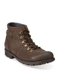 Clarks | Brown Darian Leather Boots for Men | Lyst