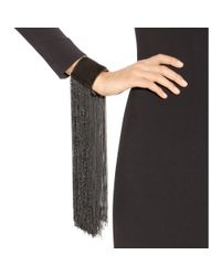 Tom Ford | Black Fringed Suede Cuff | Lyst