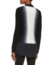 VINCE | Black Ombré Wool And Cashmere-blend Jumper | Lyst