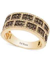 Le Vian | White And Chocolate Diamond Rectangle Band In 14k Gold (1-1/4 Ct. T.w.) | Lyst