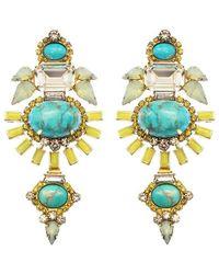 Elizabeth Cole | Blue Henning Earrings, Turquoise | Lyst