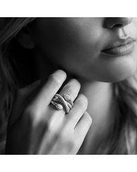David Yurman - Metallic Renaissance Ring With Diamonds - Lyst
