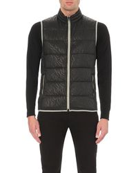 Armani Jeans | Black Quilted Gilet for Men | Lyst