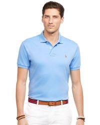 Polo Ralph Lauren | Blue Pima Soft-touch Polo Shirt for Men | Lyst