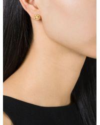 Ruifier   Metallic 'happy' Stud Earrings   Lyst