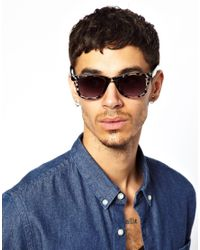 ASOS | Gray Wayfarer Sunglasses in Grey Tort with Black Arms for Men | Lyst