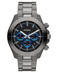 Fossil - Metallic 'retro Traveler' Chronograph Bracelet Watch for Men - Lyst