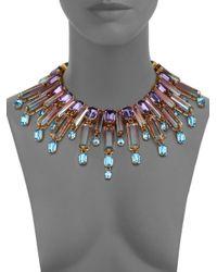 House of Lavande - Metallic Oceana Crystal Collar Necklace - Lyst