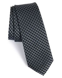 Calibrate | Black 'timor Grid' Silk Tie for Men | Lyst