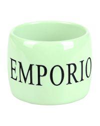 Emporio Armani - Green Bracelet - Lyst
