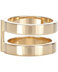 Repossi | Metallic Gold Phalanx Berbère Double-Band Midi Cage Ring | Lyst