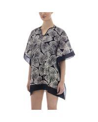 Paul Smith - Women's Black Cotton 'palm Leaf' Print Tunic - Lyst
