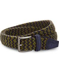 Andersons | Yellow Multi-tonal Woven Wool Belt - For Men for Men | Lyst