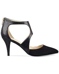 Marc Fisher | Monaye 2 Women Peep-toe Suede Black Heels | Lyst
