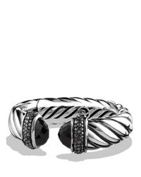 David Yurman | Waverly Bracelet With Black Onyx & Black Diamonds | Lyst