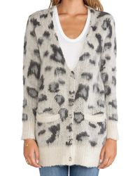 Free People - Gray Out Of Africa Cardigan - Lyst