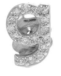 KC Designs | Metallic White Gold Diamond G Single Stud Earring | Lyst