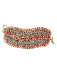 The Sak   Pink Metal Works Wide Crochet Toggle Bracelet   Lyst