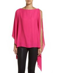 Vince Camuto | Red Poncho Top With Camisole | Lyst