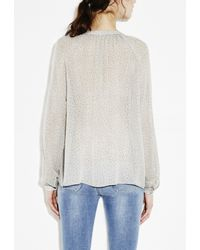 M.i.h Jeans - Natural Gathered Shirt - Lyst