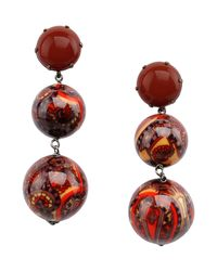 First People First - Red Earrings - Lyst