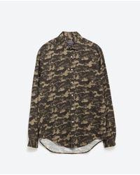 Zara | Green Printed Shirt for Men | Lyst