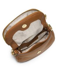 MICHAEL Michael Kors | Brown Bedford Flap Crossbody | Lyst