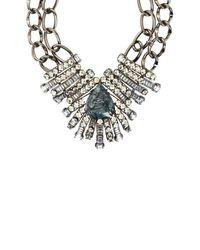 BCBGMAXAZRIA | Blue Teardrop Stone Chain Necklace | Lyst