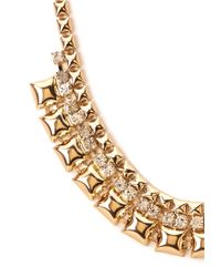 Forever 21 - Metallic Pyramid Studded Collar Necklace - Lyst