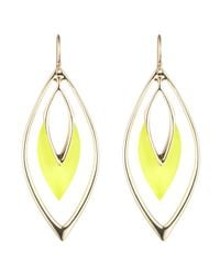 Alexis Bittar | Yellow Orbiting Wire Earring | Lyst