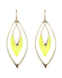 Alexis Bittar - Yellow Orbiting Wire Earring - Lyst