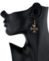 Ashley Pittman | Purple Dark Horn Araba Earrings | Lyst
