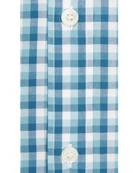 Burberry - Modern Fit Button-down Collar Check Cotton Shirt Mid Blue for Men - Lyst