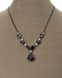 Givenchy | Black Hematite-Tone & Blue Pendant Necklace | Lyst