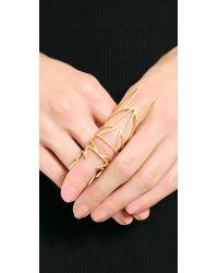 Eddie Borgo | Metallic Hinged Wing Ring Matte Gold | Lyst