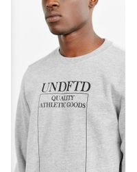 Undefeated - Gray Quality Sweatshirt for Men - Lyst