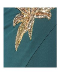 Balmain - Green Embellished Jersey Dress - Lyst