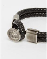 Simon Carter | Black Swarovski Skull Leather Bracelet Exclusive To Asos for Men | Lyst