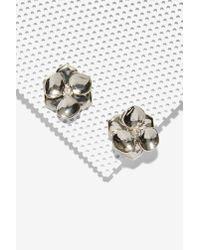 Nasty Gal - Metallic Rose Up Earrings - Lyst