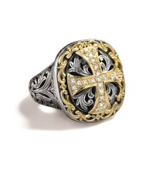 Konstantino - Yellow Diamond Cross Ring - Lyst