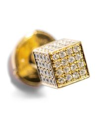 Noor Fares - Yellow Diamond & Gold Asymmetrical Cube Earrings - Lyst