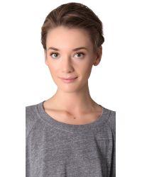 Ginette NY - Metallic Mini Peace Necklace - Lyst