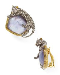 Alexis Bittar | Multicolor Elements Crystal Encrusted Panther Clip On Earrings | Lyst