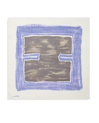 Halston - Blue Abstract Silk Scarf - Lyst