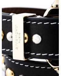 Givenchy | Black Studded Wrap Bracelet | Lyst