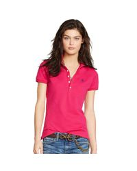 Polo Ralph Lauren   Pink Skinny-fit Stretch Polo Shirt   Lyst