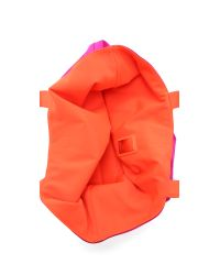 Deux Lux | Dl Activ Reversible Lotus Tote - Pink/orange | Lyst