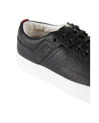 HUGO | Black Sneakers 'corynna-r' In Leather | Lyst